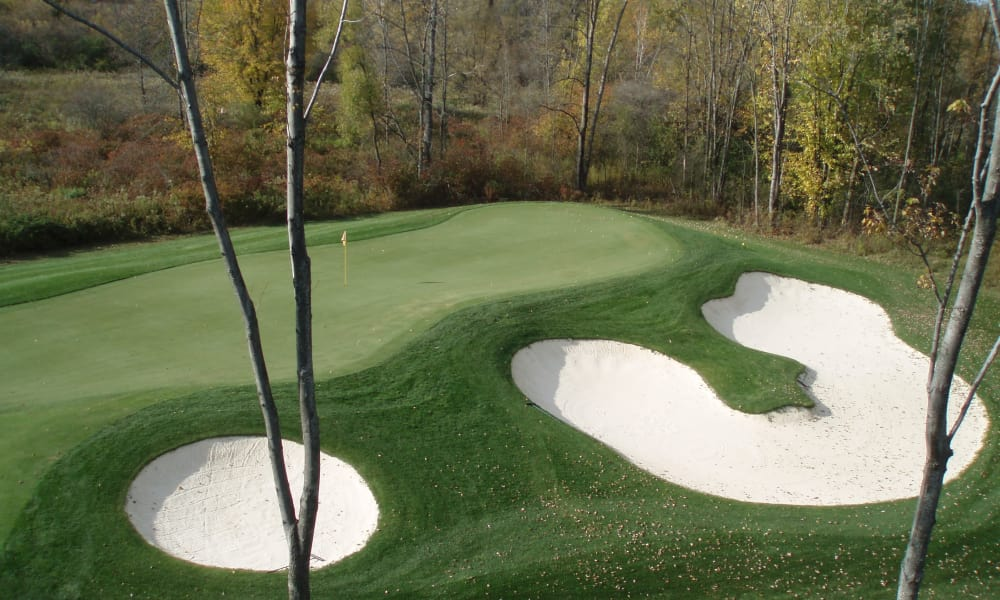 Golf course with sand traps at The Fairways at Timber Banks in Baldwinsville, NY
