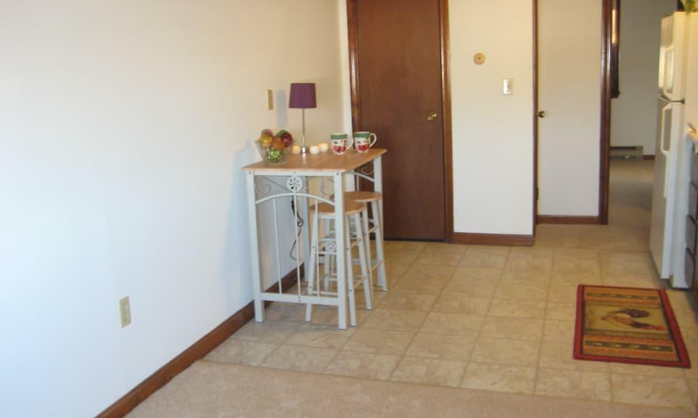 Spacious floor plans at Van Deene Manor in West Springfield, MA