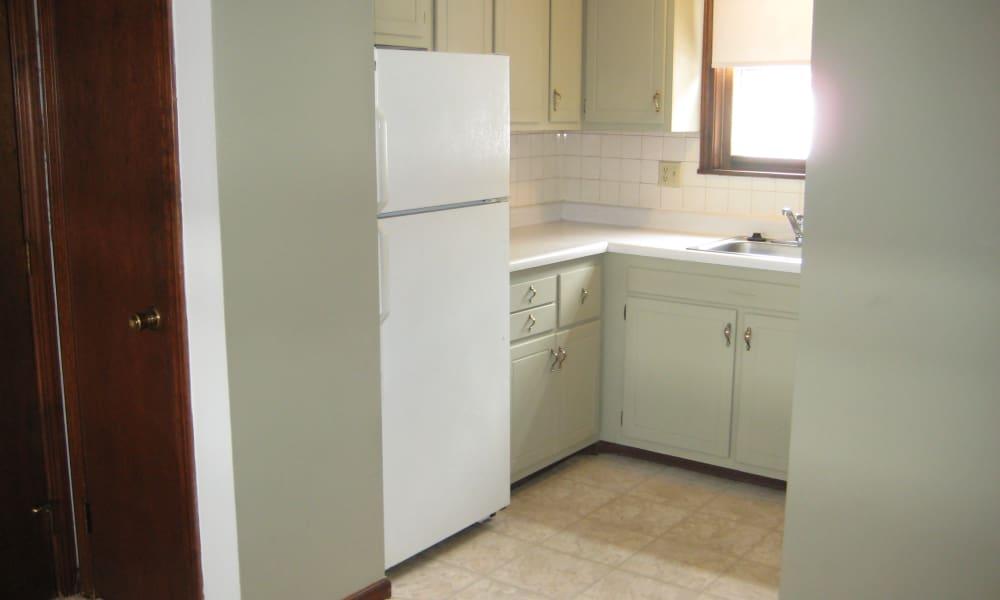 Kitchen view at Van Deene Manor in West Springfield, MA