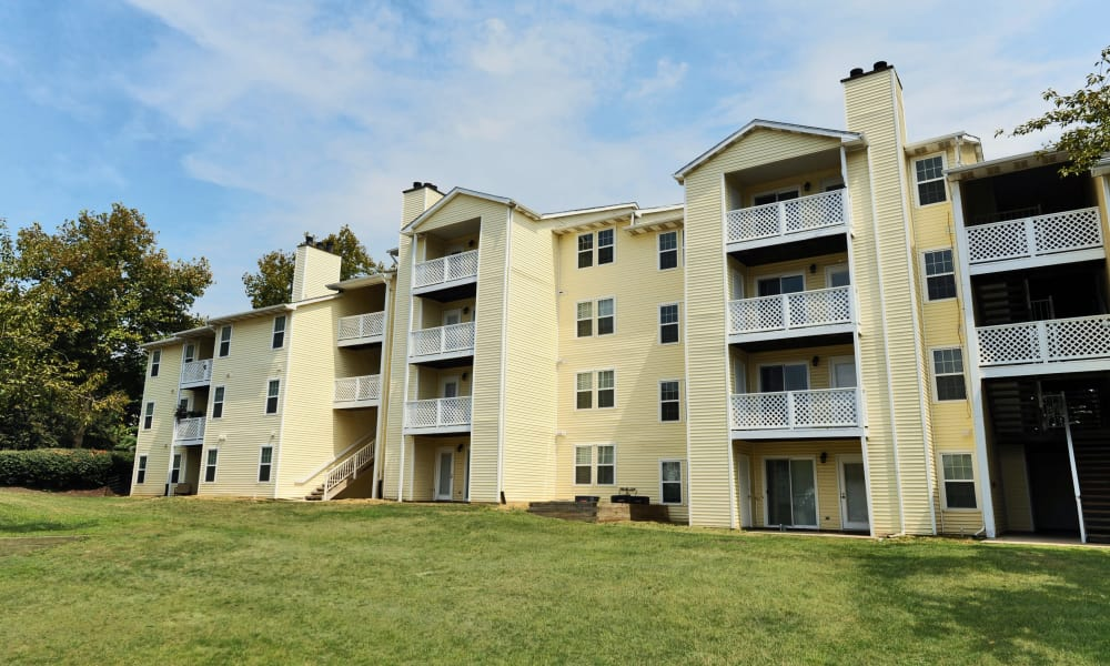 Exterior view of Chase Lea Apartment Homes in Owings Mills, MD