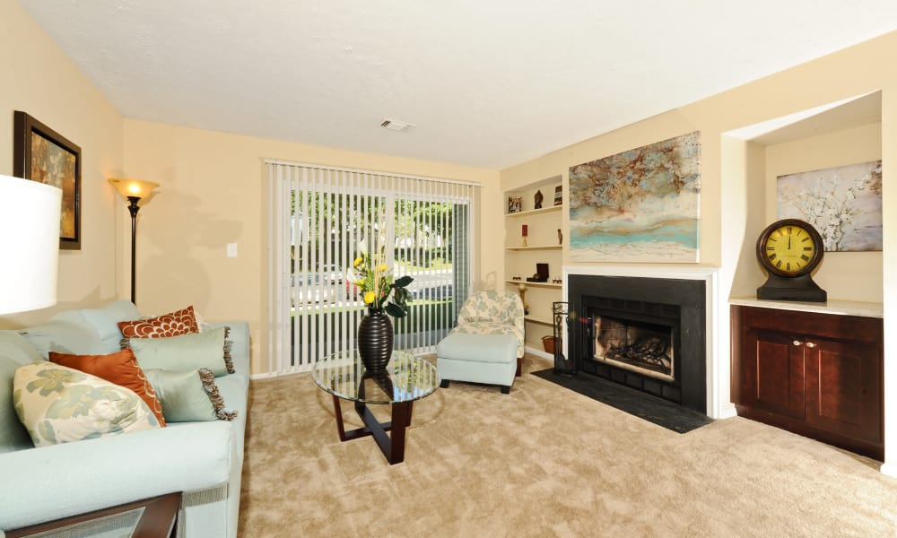 Chase Lea Apartment Homes offers a naturally well-lit living room in Owings Mills, MD
