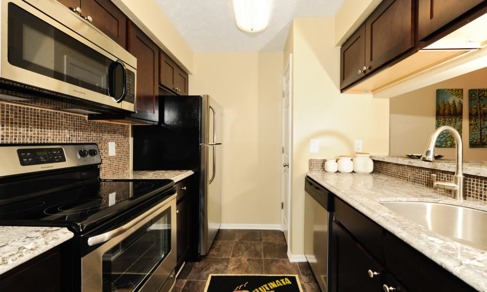 Kitchen hallway at Chase Lea Apartment Homes in Owings Mills, MD