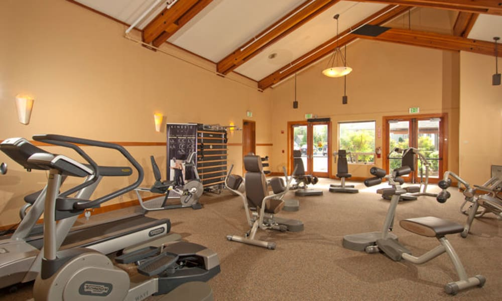 Fitness center at GenCare Renton at The Lodge