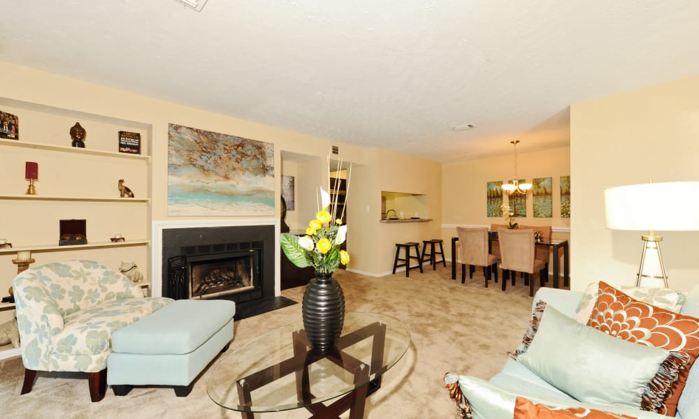 Living room at Chase Lea Apartment Homes in Owings Mills, MD