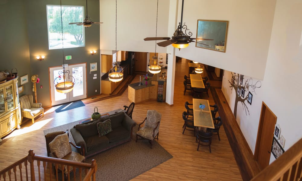 Upstairs view of the main hall at Generations Assisted Living