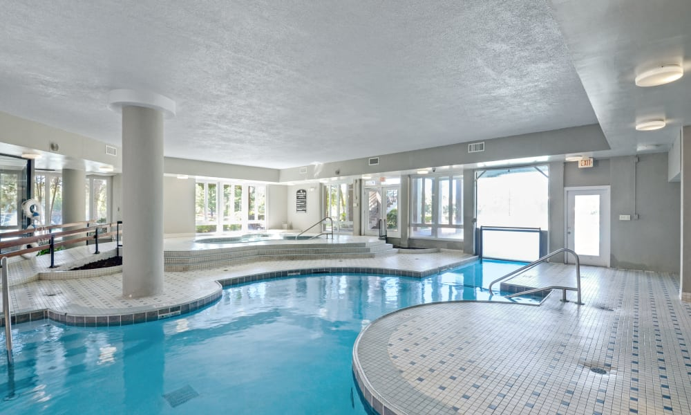 Indoor pool at Waterview Apartment Homes in Memphis