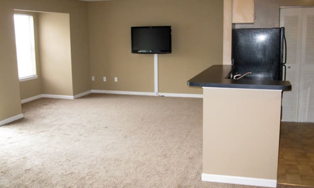 Greens at Cross Court offers a spacious living room eith TV in Easton, Maryland