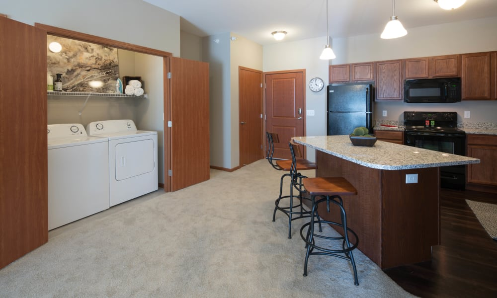 Laundry Kitchen area at Remington Cove Apartments in Apple Valley