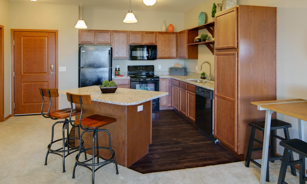 Model Kitchen at Remington Cove Apartments in Apple Valley