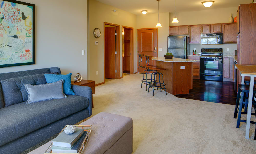 Large open floor plan at Remington Cove Apartments in Apple Valley