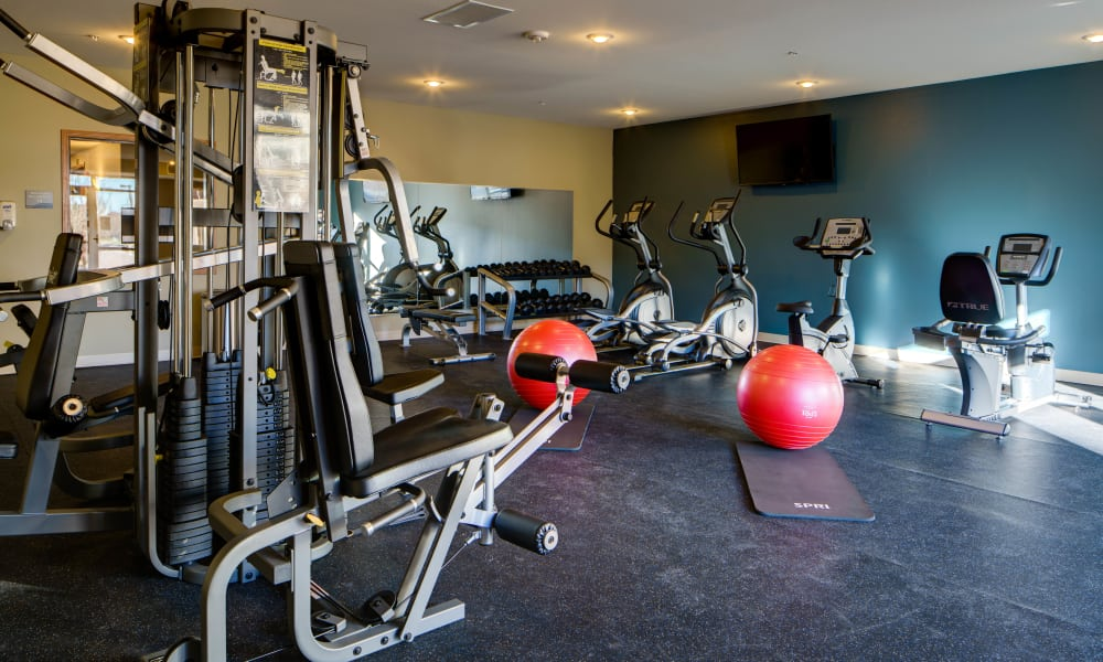 Fitness Machines at Remington Cove Apartments in Apple Valley