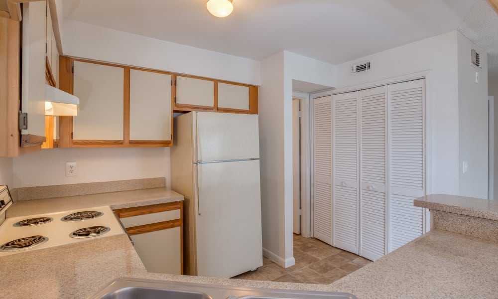 Our apartments in Jacksonville, Florida showcase a beautiful kitchen