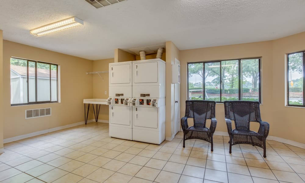 Laundry facility at apartments in Jacksonville, Florida