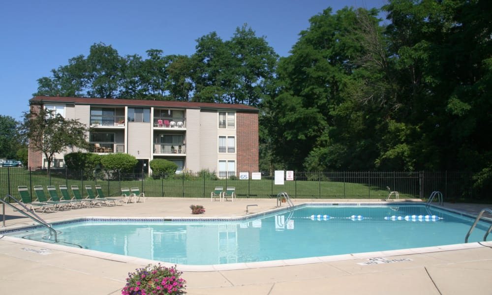 Sparkling Swimming Pool at Fairway Trails Apartments in Ypsilanti, MI