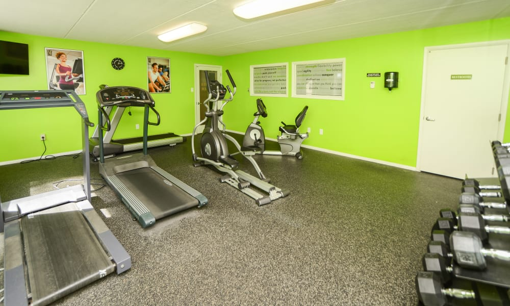 Fitness center at Camp Hill Apartment Homes in Camp Hill, PA
