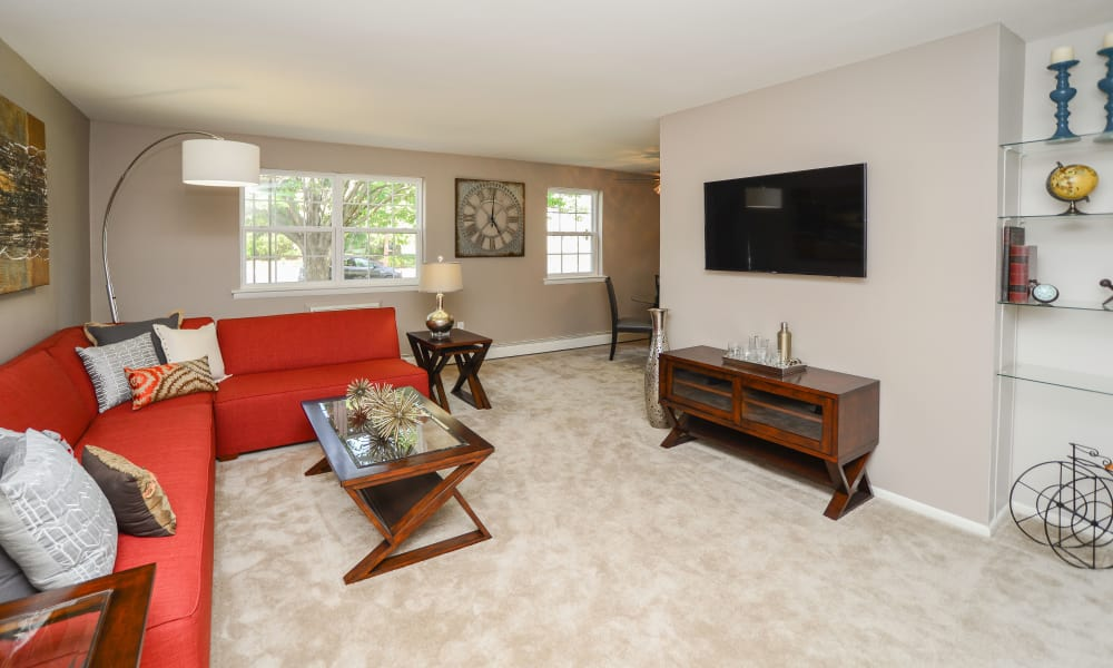 Camp Hill Apartment Homes offers a living room in Camp Hill, PA