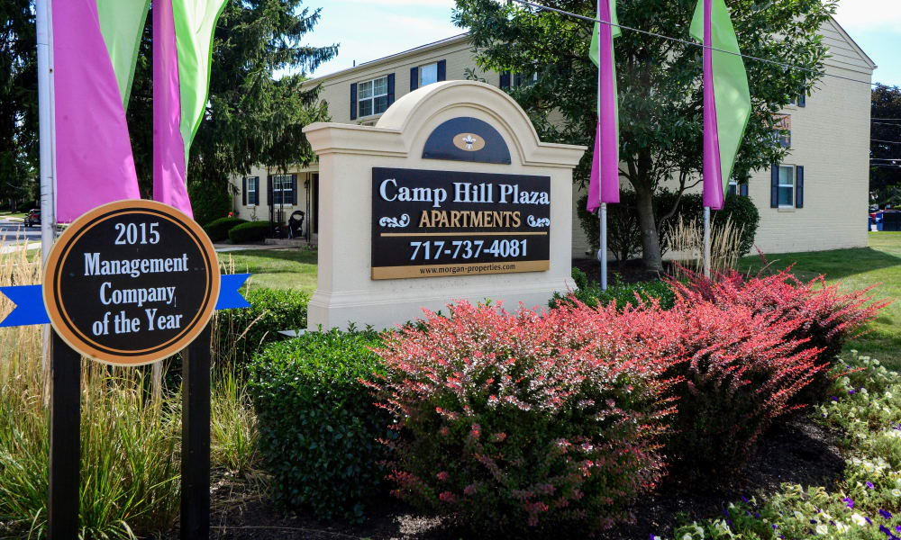 Entrance monument at Camp Hill Apartment Homes in Camp Hill, PA