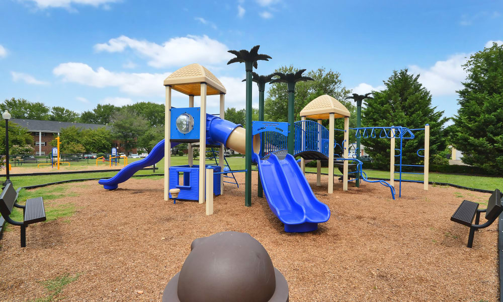Woodcrest Arms Apartment Homes offers a playground in Dover, DE