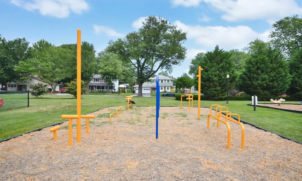 Dog park at Woodcrest Arms Apartment Homes in Dover, DE