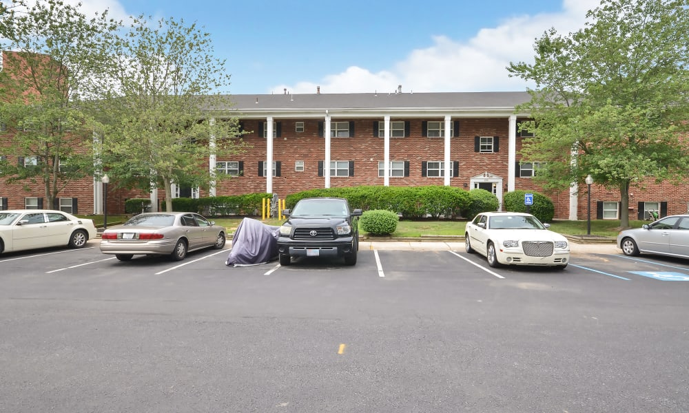 Woodcrest Apartment Homes offers a parking area in Dover, DE