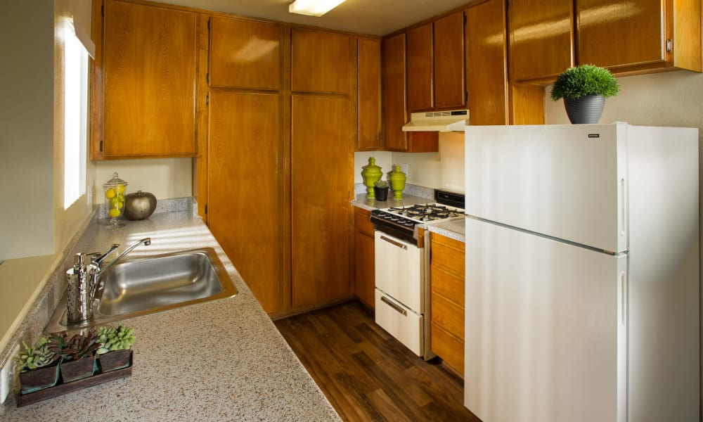 The Villas at Rowland Heights offers a kitchen in Rowland Heights, CA