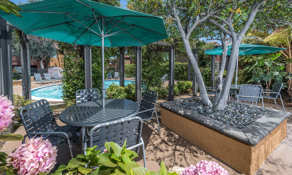 Enjoy apartments with a swimming pool at The Villas at Rowland Heights