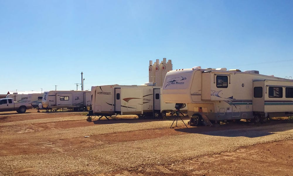 Tenants parked at Lucky Star RV Park