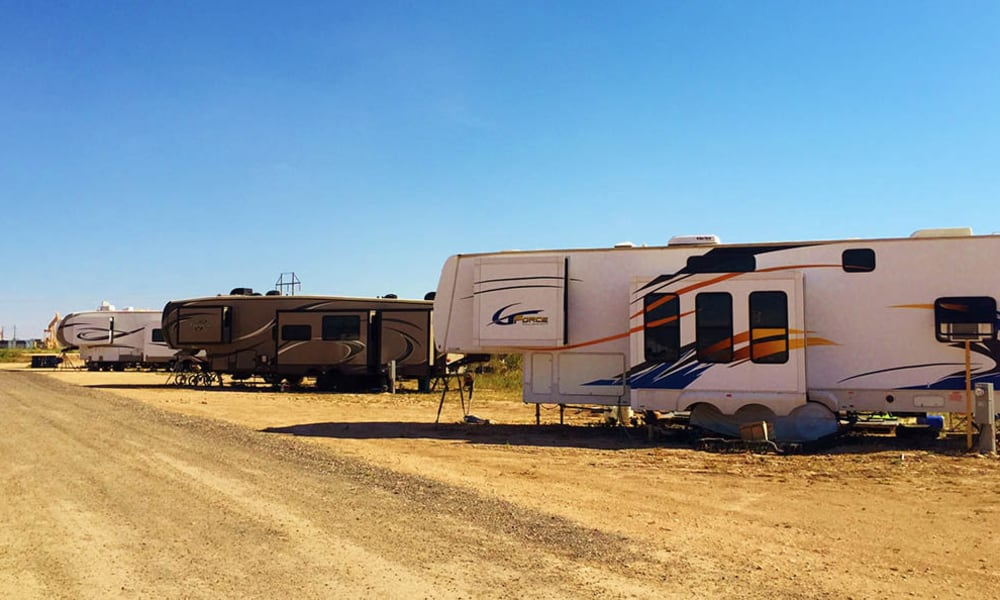 RVs parked at Lucky Star RV Park