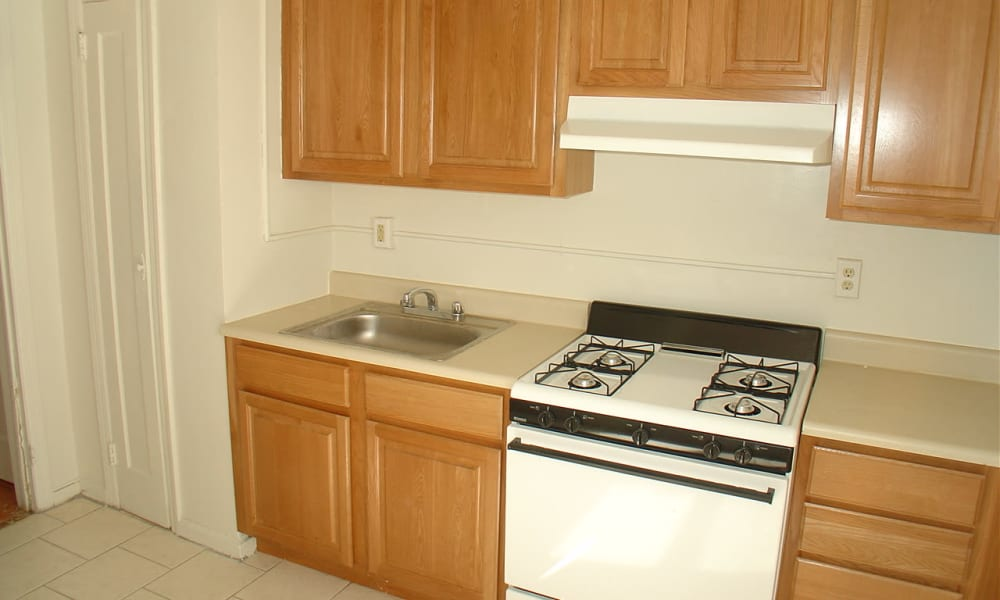 Kitchen at Harper House Apartment Homes in Highland Park, NJ