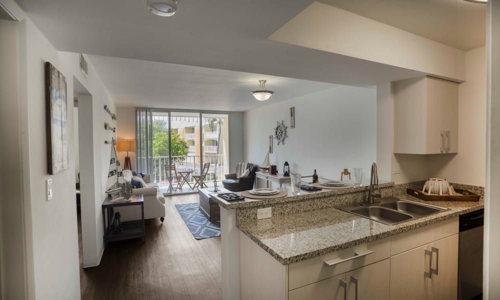 Large open floor plans at Ocean Walk Apartments in Key West