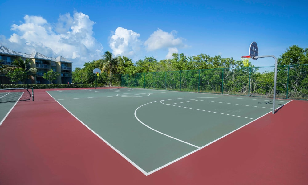 Basketball court at Ocean Walk Apartments in Key West