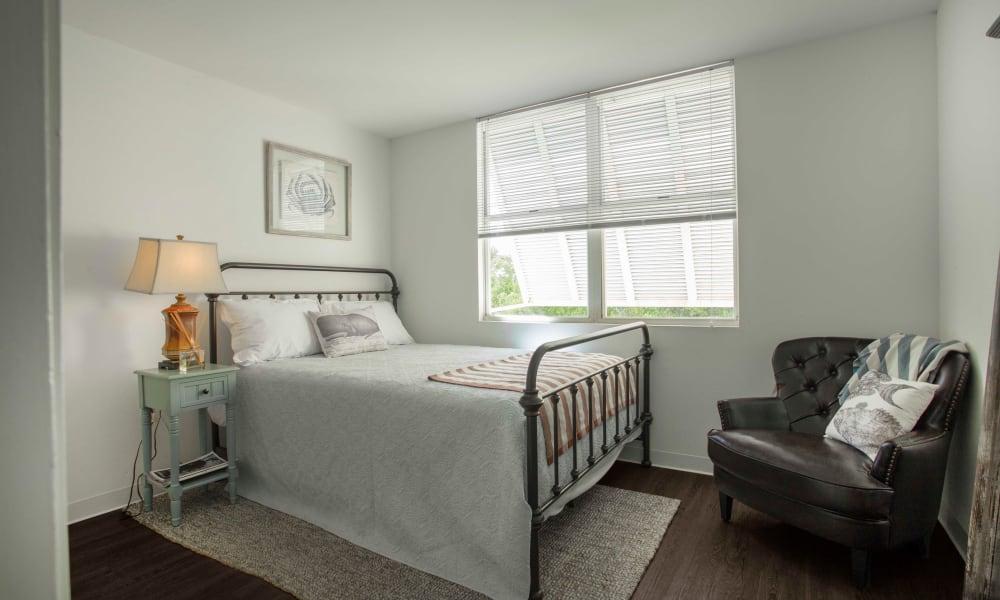 Beautiful master bedroom at Ocean Walk Apartments in Key West