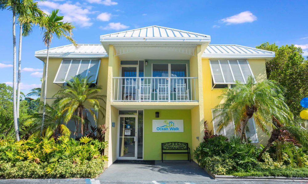 Front entrance of Ocean Walk Apartments in Key West