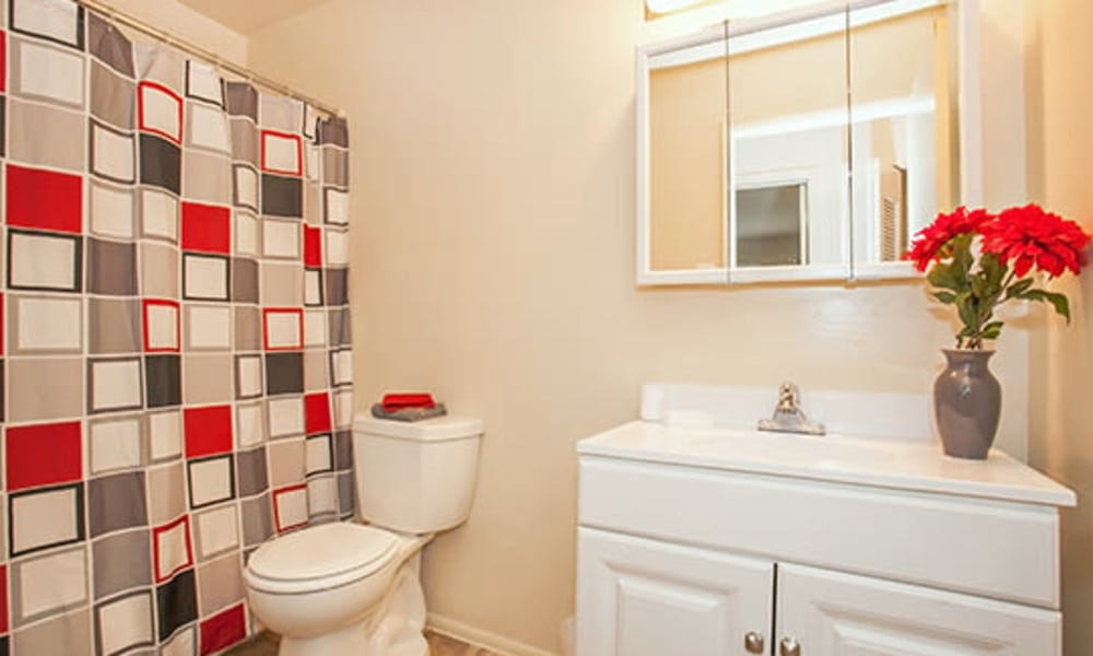 Bathroom at Westwood Gardens Apartment Homes in West Deptford, NJ