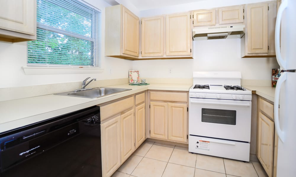 Fully equipped kitchen at Westview Apartment Homes in Westwood, NJ