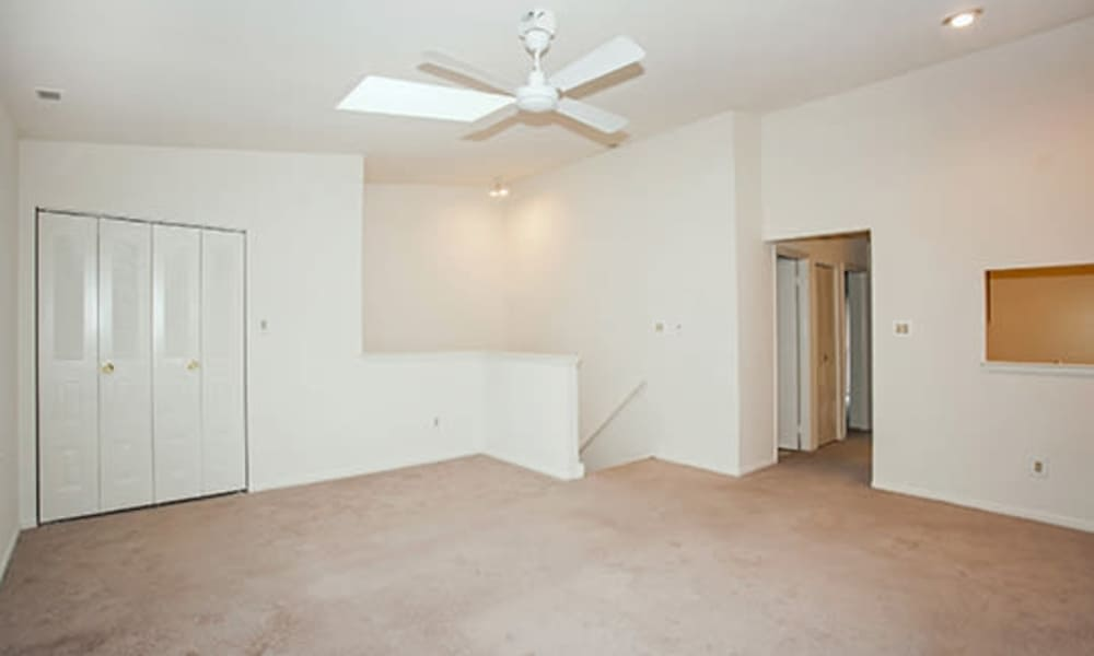Apartment interior with ceiling fan at Tory Estates Apartment Homes in Clementon, NJ
