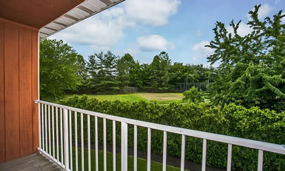 Balcony view at Tory Estates Apartment Homes in Clementon, NJ
