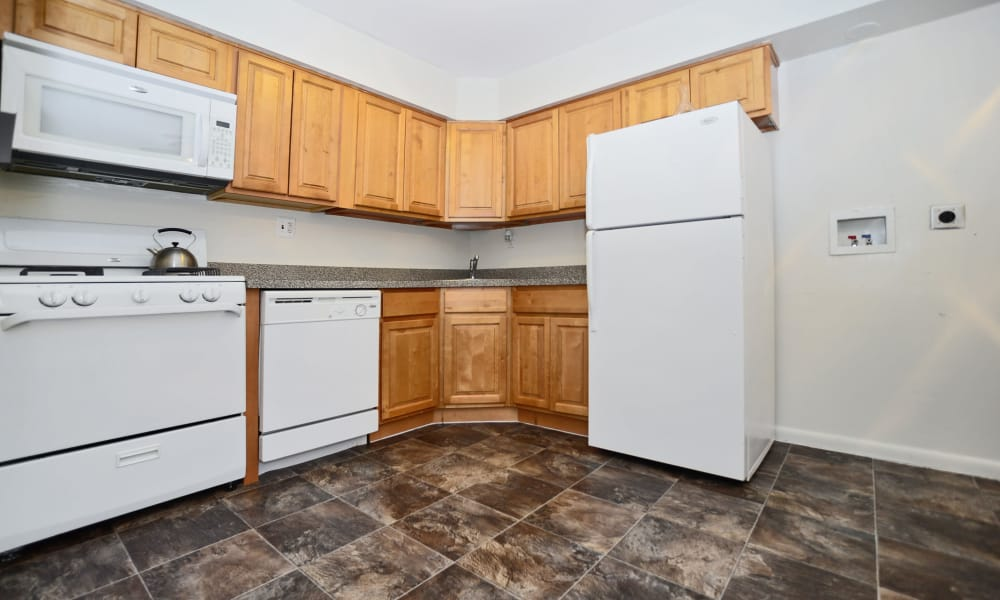The Fairways Apartment Homes offers a kitchen in Blackwood, NJ