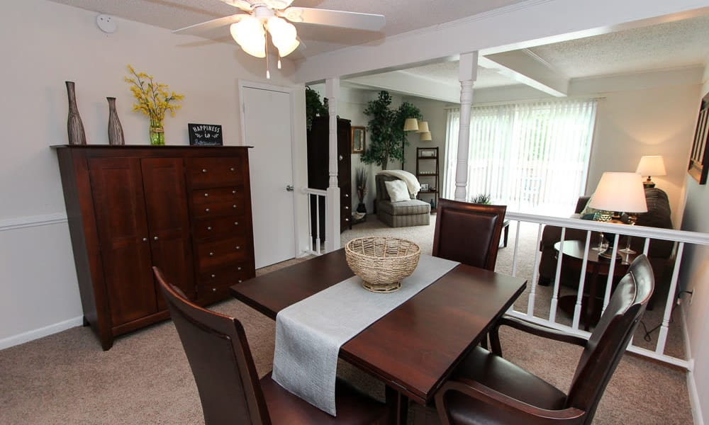 Our apartments in Vestavia, Alabama showcase a unique dinning room
