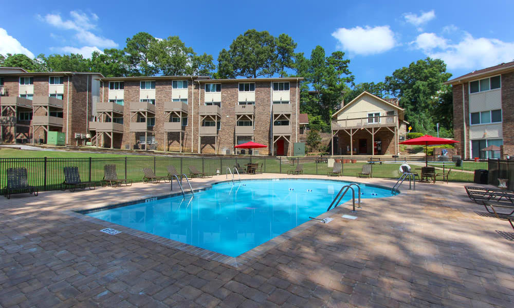 One of two unique swimming pools at Rollingwood in Vestavia, Alabama