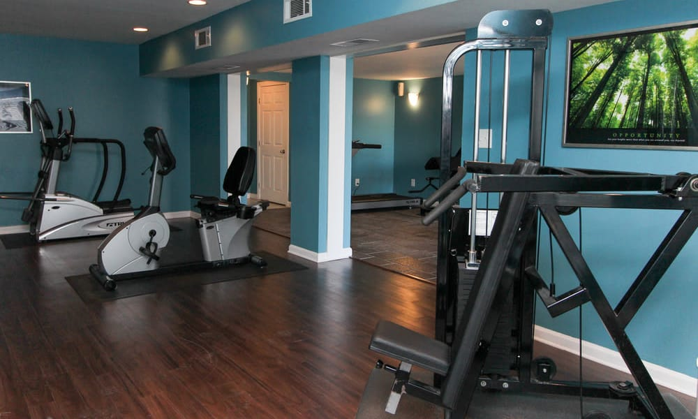 Beautiful fitness center at The Bluffs at Epps Bridge in Athens, Georgia