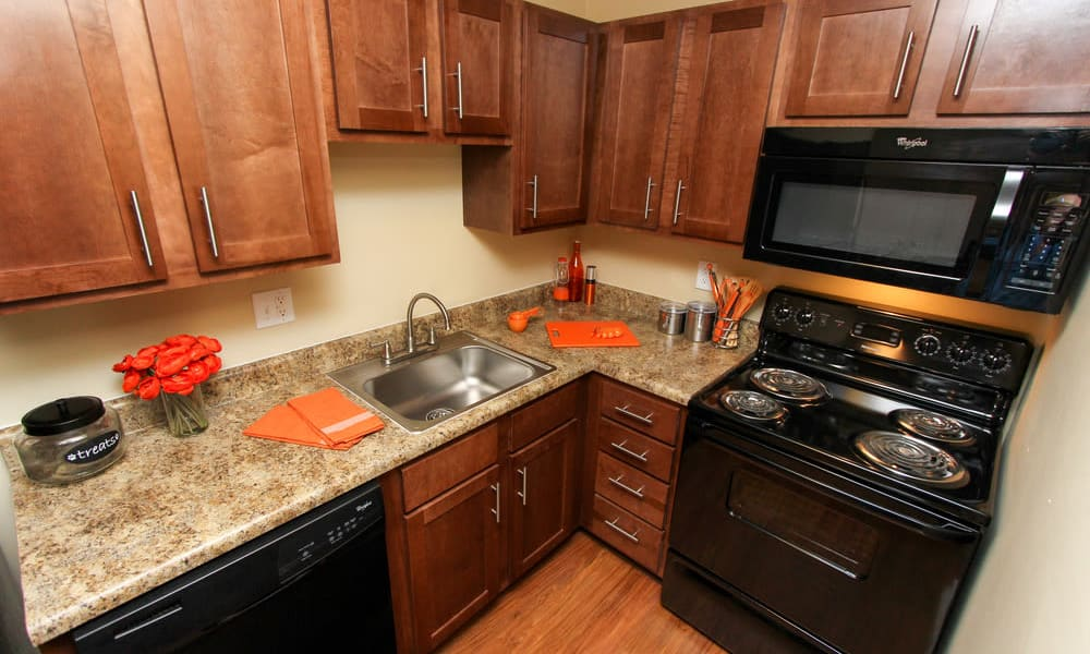 Modern kitchen at The Bluffs at Epps Bridge in Athens, Georgia