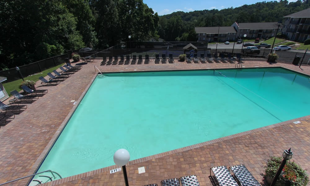 Beautiful swimming pool at apartments in Athens, Georgia