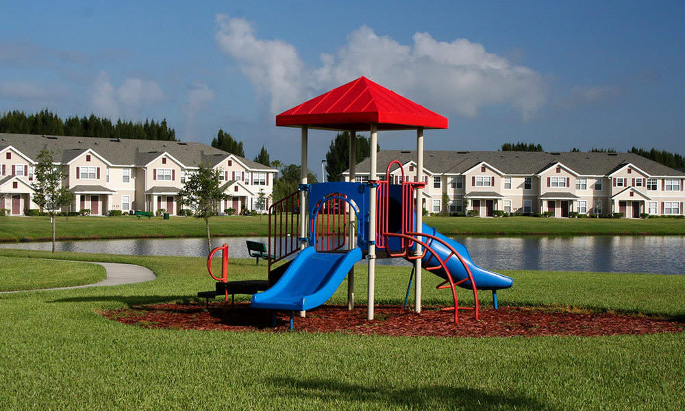 Renovated playground at Walker Woods in Vero Beach, Florida
