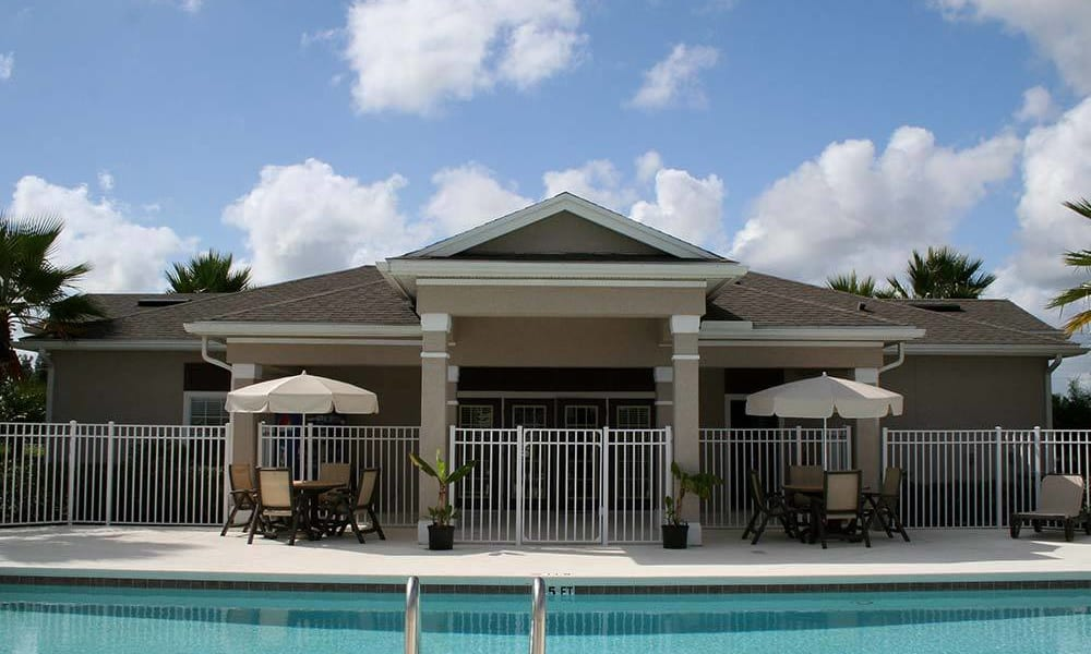 Luxury swimming pool at apartments in Vero Beach, Florida