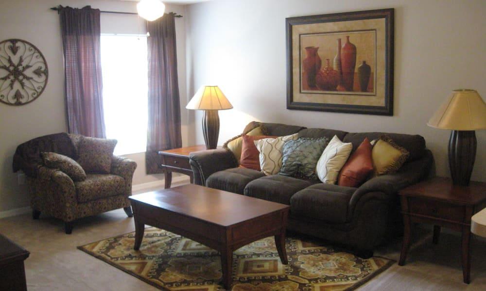 Spacious living room at Walker Woods in Vero Beach, Florida