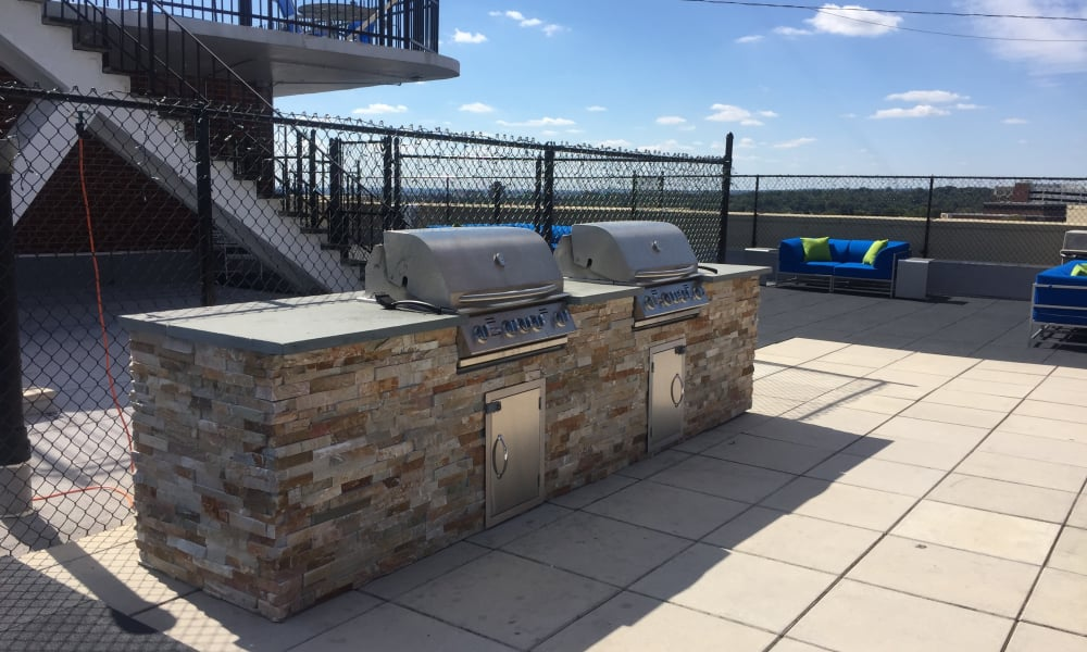 barbecue area at The Carlyle Apartments in Baltimore, MD