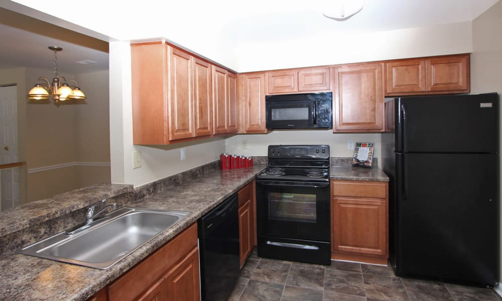 Northampton Apartment Homes offers a kitchen in Largo, MD
