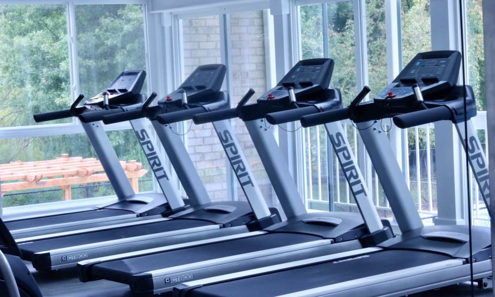 Fitness center at Northampton Apartment Homes in Largo, MD