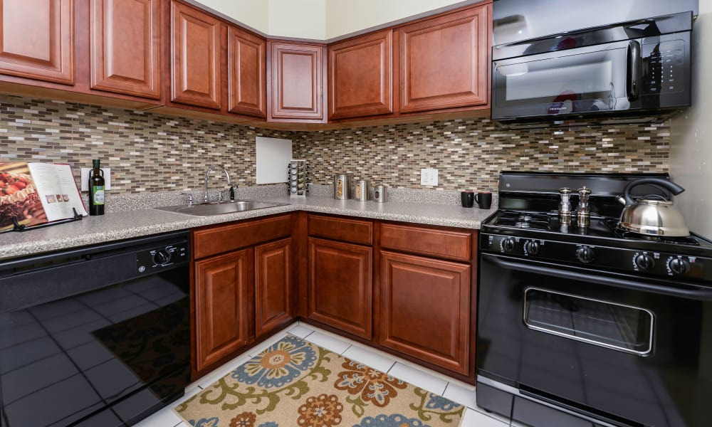 Fully equipped kitchen at Henry on the Park Apartment Homes in Philadelphia, PA